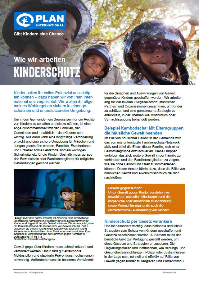 """Wie wir arbeiten """"Kinderschutz"""""""