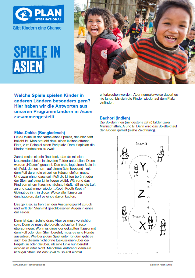 Kinderspiele in Asien