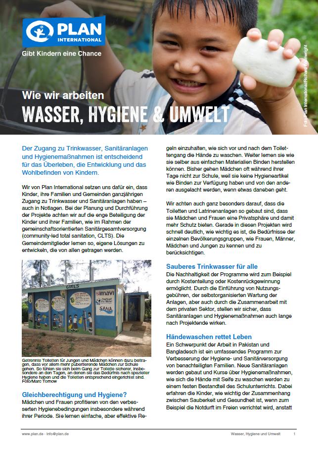 """Wie wir arbeiten """"Wasser, Hygiene & Umwelt"""""""